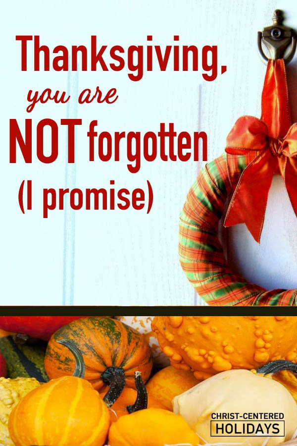An open letter to Thanksgiving. Is it the forgotten holiday? How can Thanksgiving prepare our hearts to experience the deepest joys of the Christmas season?