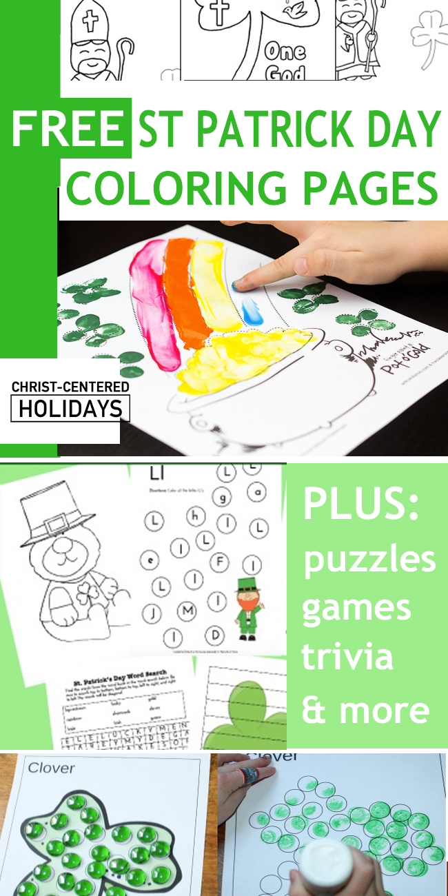22 Free St Patrick Day Coloring Pages & Printables - Christ Centered ...