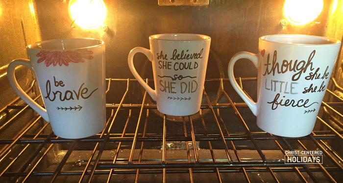 How To Make A Sharpie Mug Gift Christ Centered Holidays