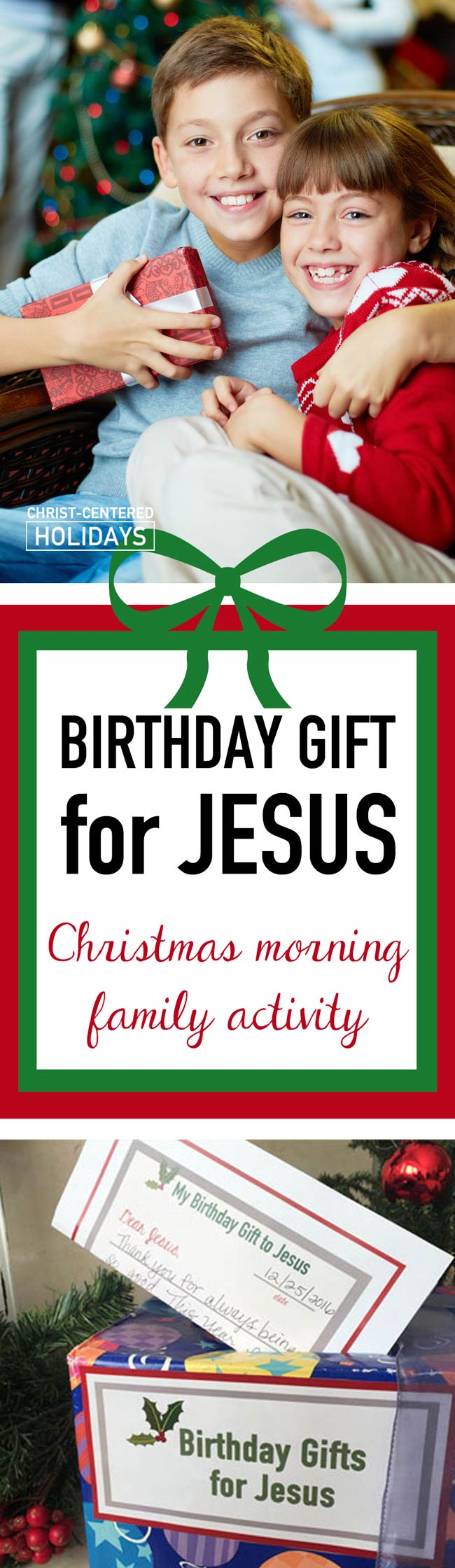 Enjoy this awesome Happy Birthday Jesus activity—birthday gifts for Jesus on Christmas morning! What a wonderful Christmas family tradition to start this year!