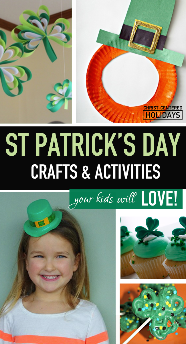 It's so much fun to do St Patrick Day activities with kids and to do St Patrick Day crafts on this day that celebrates all things Irish (and green)! Here's a list of 32 easy St Patrick Day activities for children, including St Patrick Day crafts, St Patrick Day recipes, printable St Patrick Day activities, St Patrick Day books for kids, and other fun St Patrick Day activities for kids that share the true St Patrick day story. #stpatrickdayactivities #stpatrickdayactivitieskids #stpatrickdayactivitiestoddlers #stpatrickdayactivitiesforpreschool