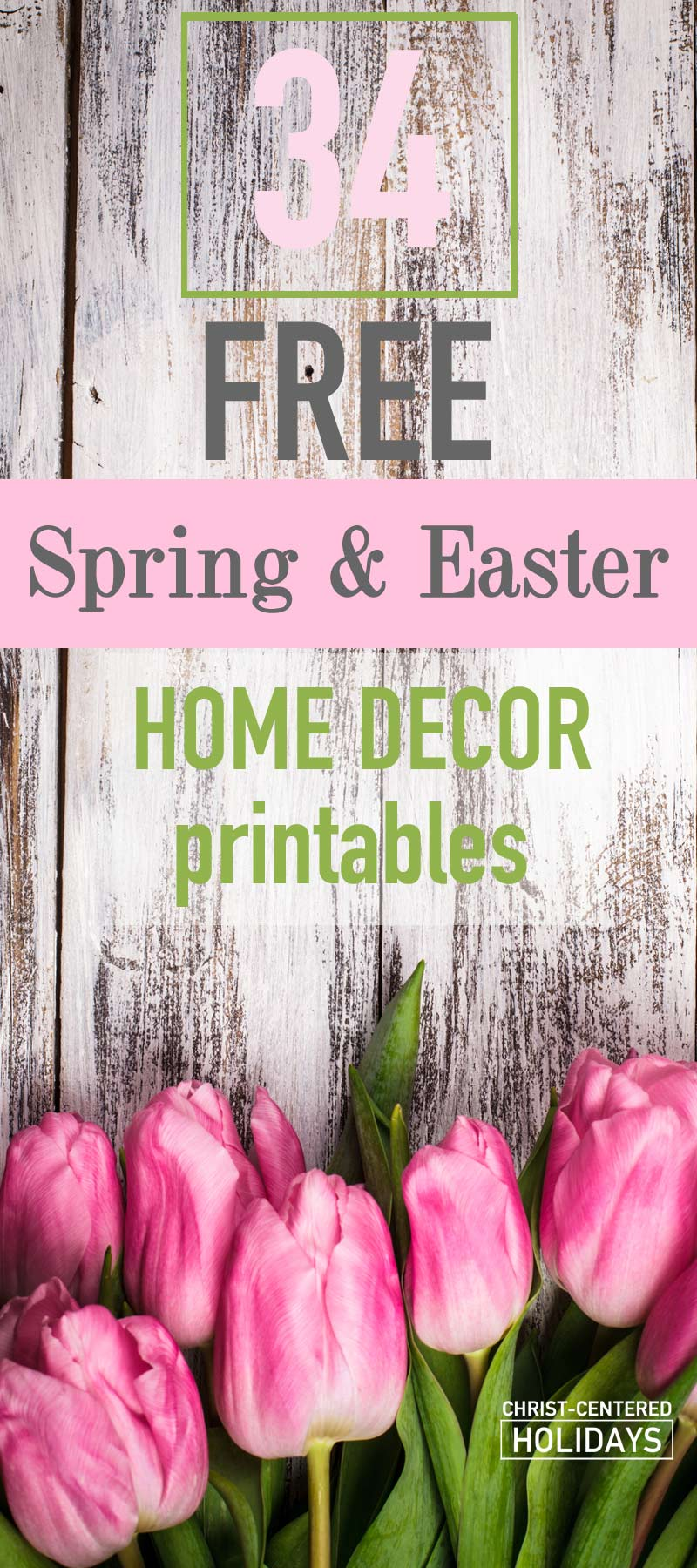 picture relating to Printable Easter Decorations named 30+ Free of charge Easter House Decor Printables - Christ Based mostly Holiday seasons