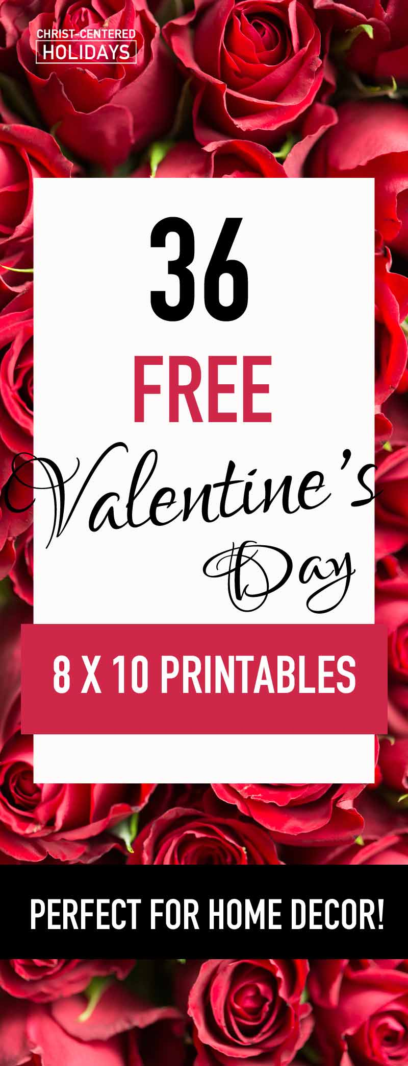 36 Free Valentines Day Wall Art Printables (Seasonal Home ... Free Printable Valentine's Day Decorations