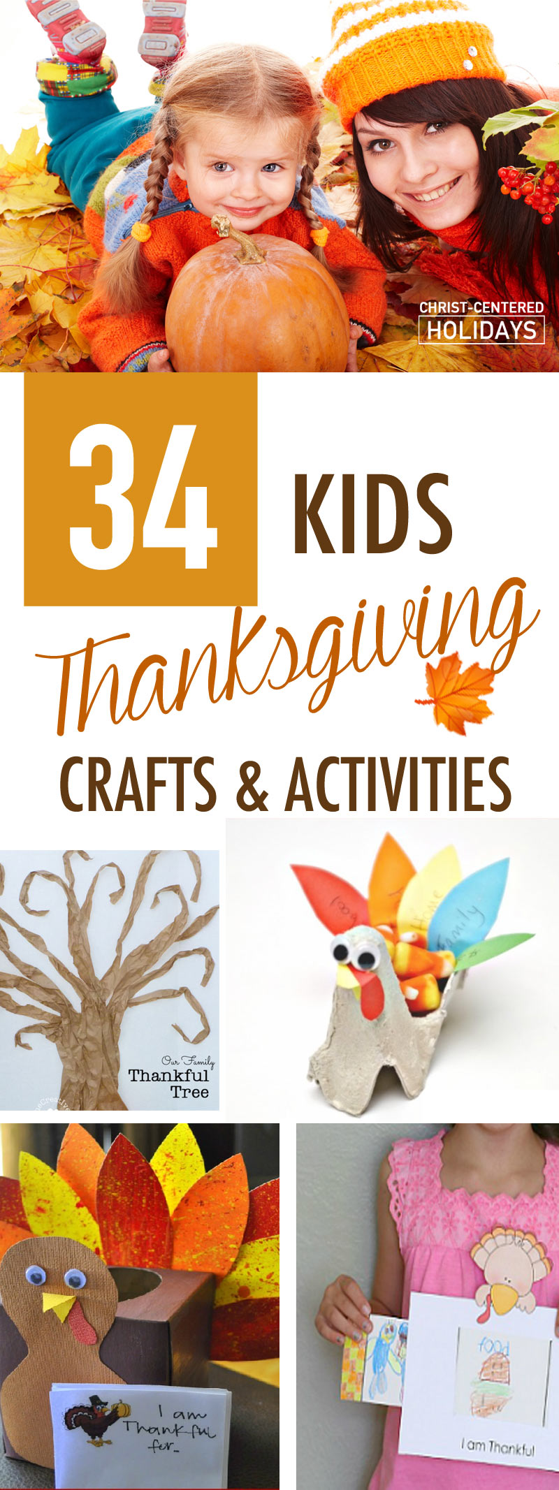 Wow! Check out this awesome list of Thanksgiving crafts for kids, plus a list of great Thanksgiving books for kids, awesome Thanksgiving activities (including a Thankful Tree printable) and even links to free Thanksgiving Bible lessons that will teach your family the importance of gratitude. #thanksgiving #thanksgivingcraftsforkids #thanksgivingcrafts