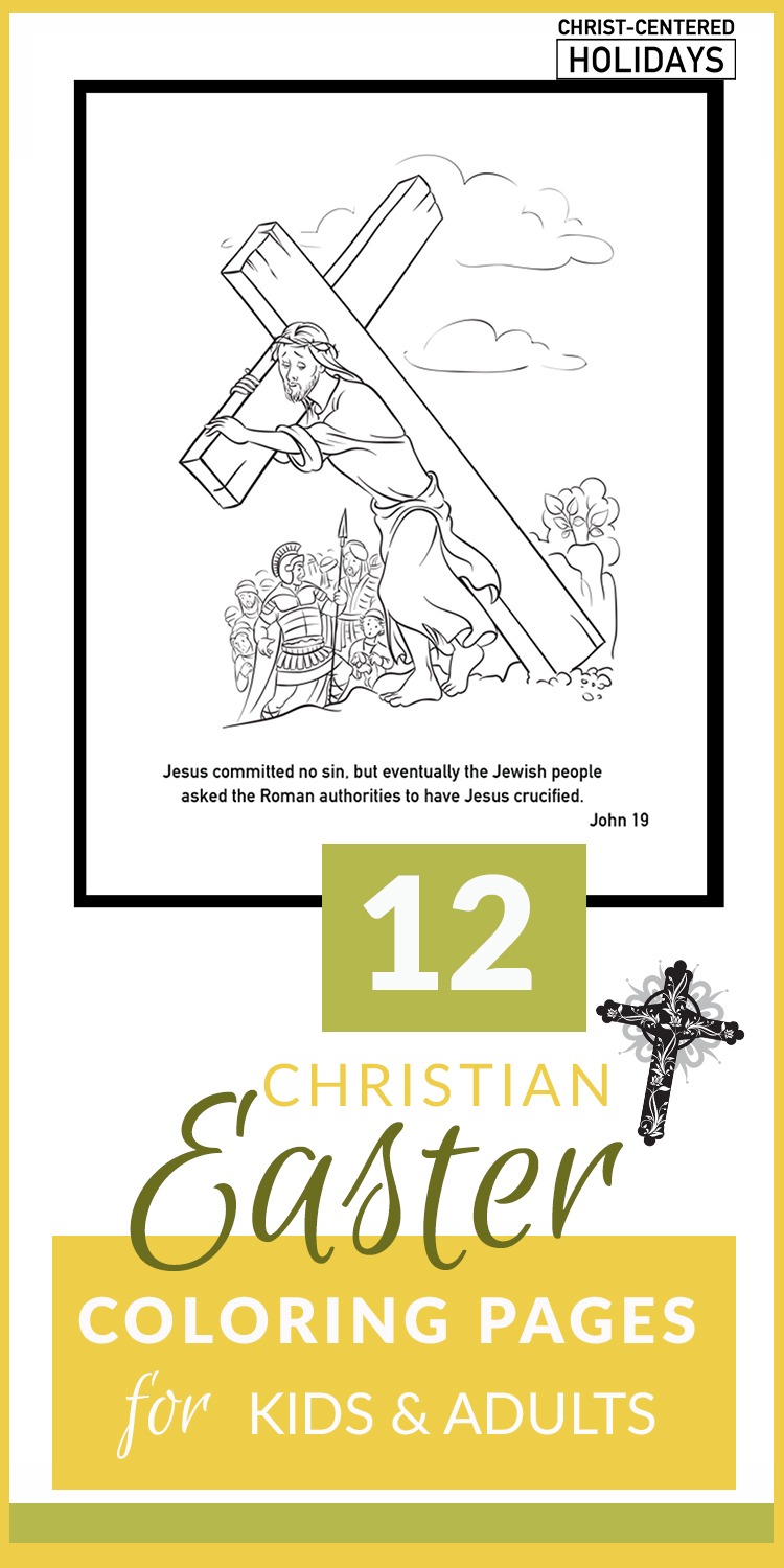 Attractive Christian Easter Coloring Pages For Children