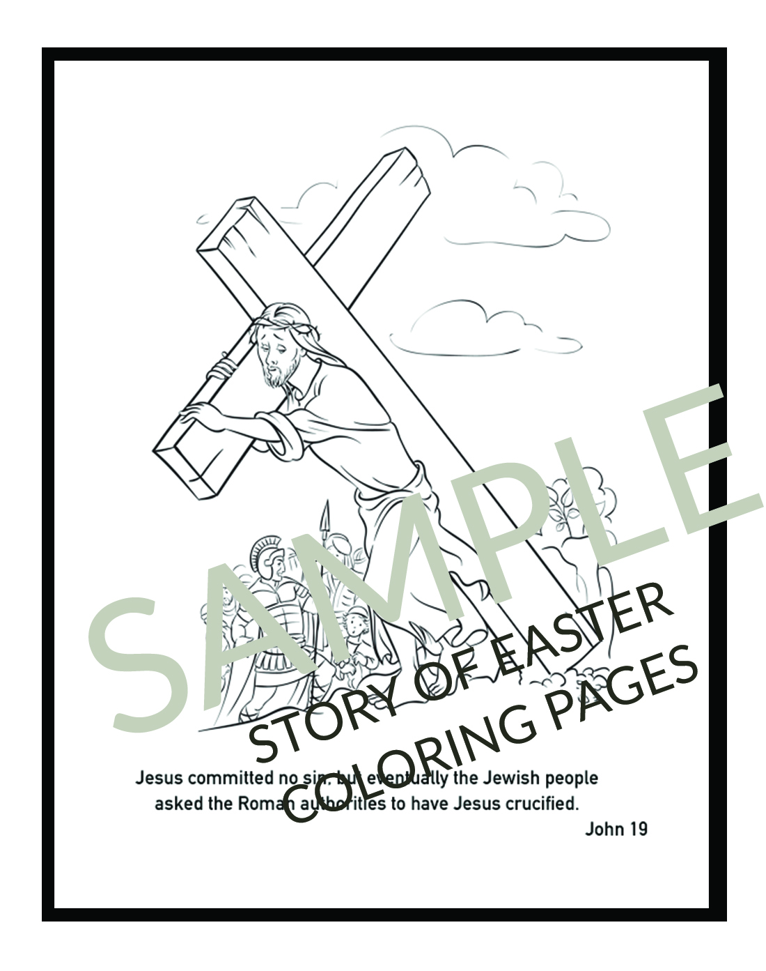 Christian Easter Coloring Pages Printables (for Kids & Adults ...